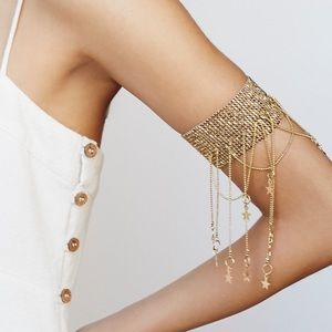 Free People Jewelry Shooting Stars Vintage Gold Armband Poshmark